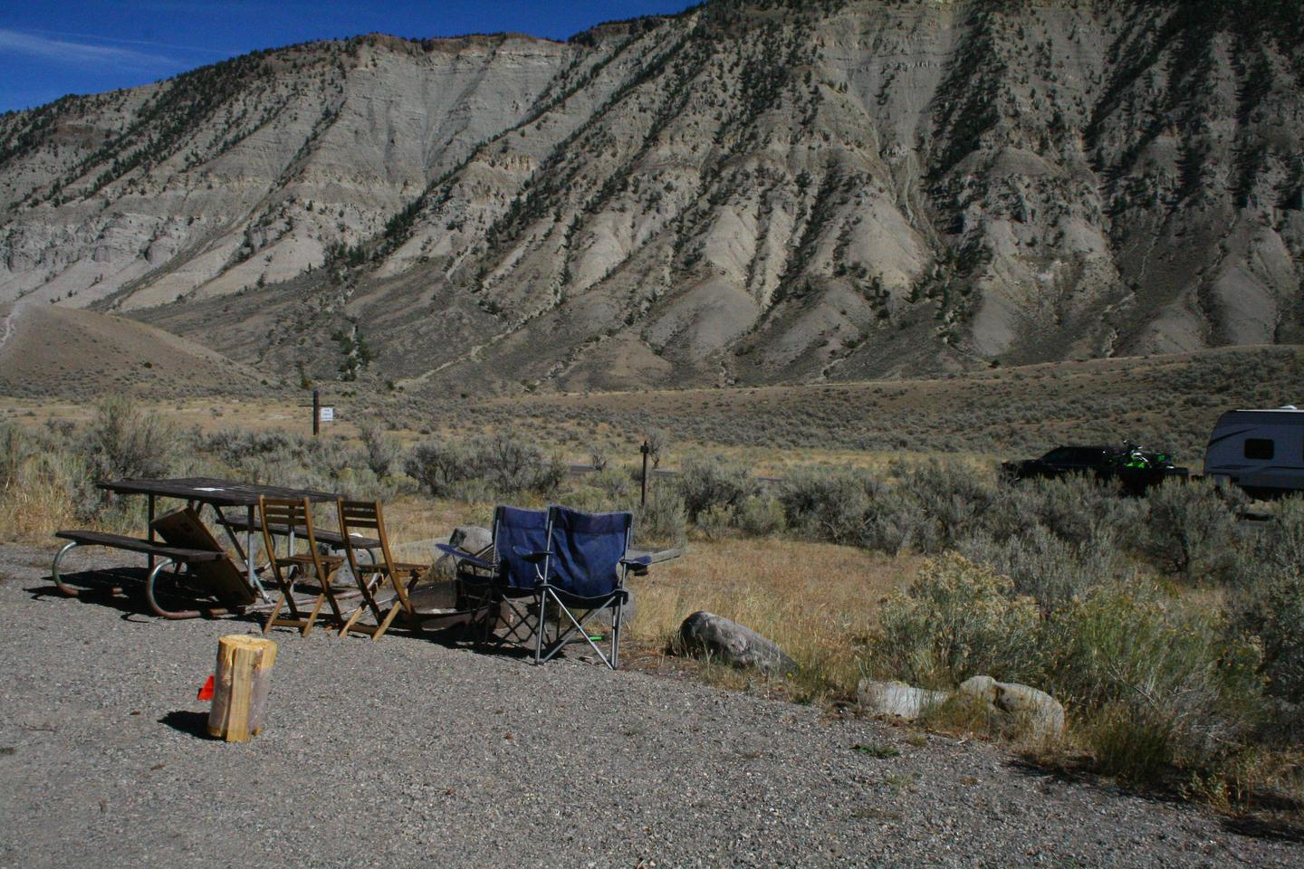 Mammoth Hot Springs Campground Site 25aMammoth Campsite #25