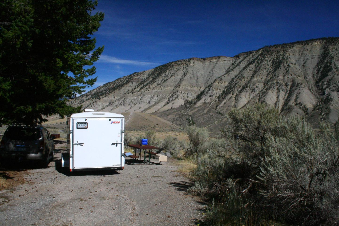 Mammoth Hot Springs Campground Site 26Mammoth Campsite #26