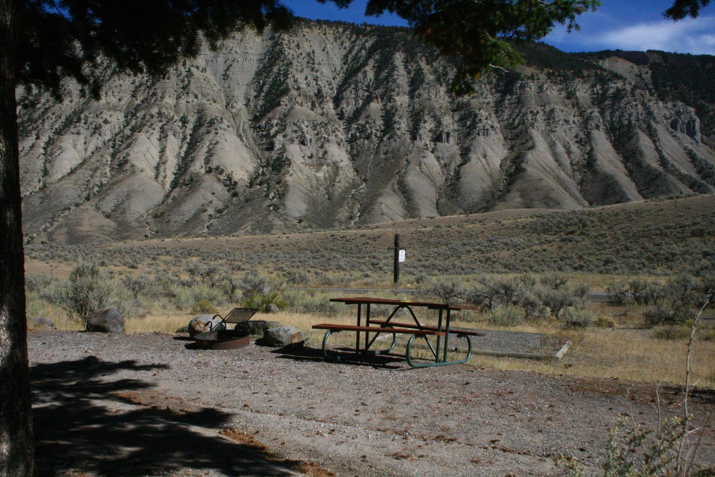 Mammoth Hot Springs Campground Site 27Mammoth Campsite #27