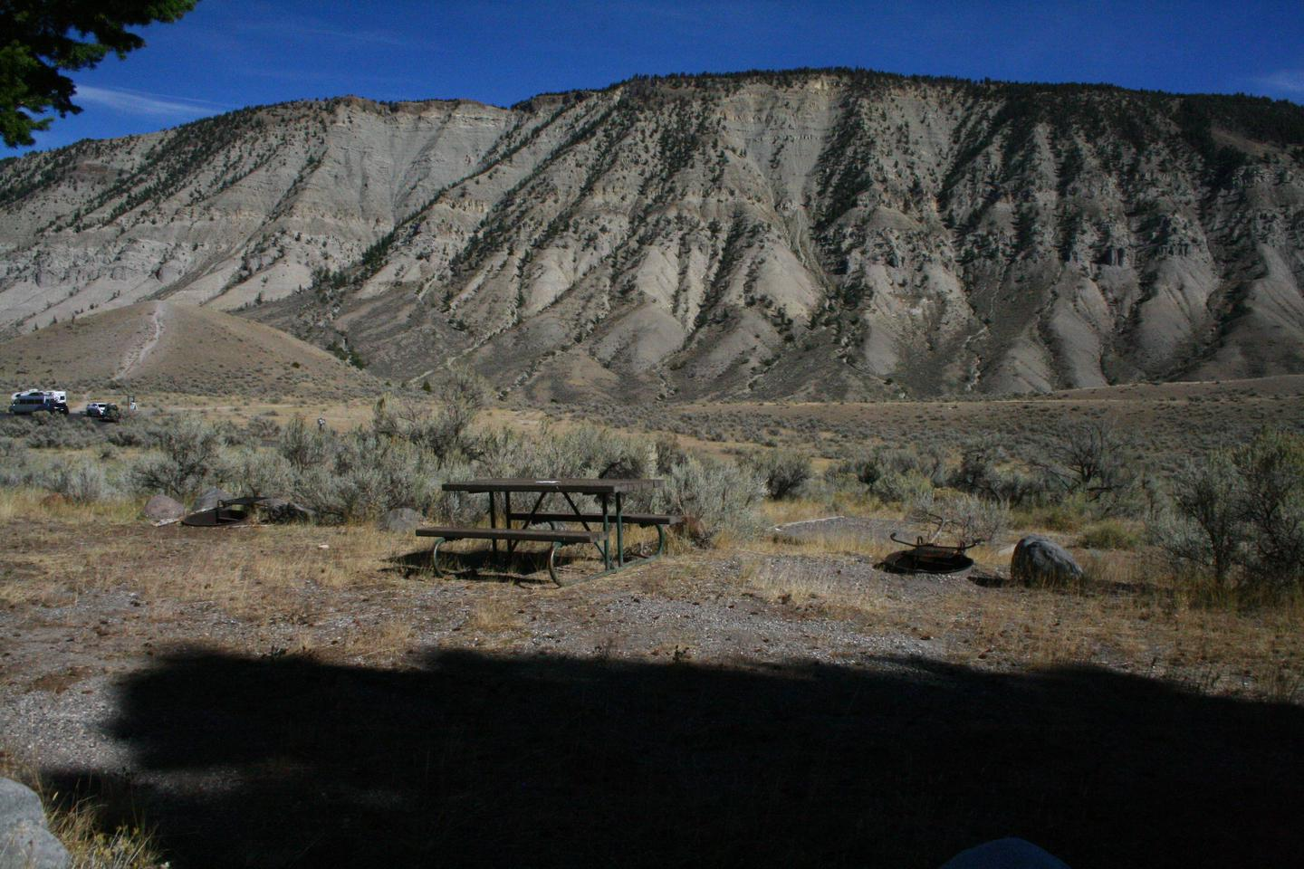 Mammoth Hot Springs Campground Site 28Mammoth Campsite #28 - Motorcycle site only