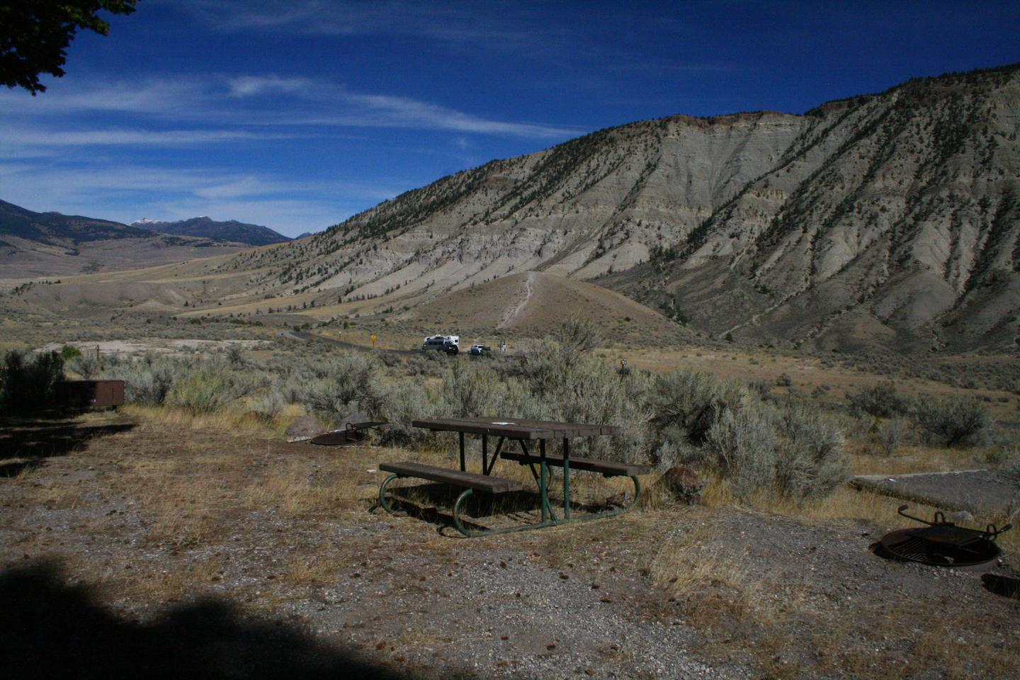 Mammoth Hot Springs Campground Site 28.Mammoth Campsite #28 - Motorcycle site only, no vehicle parking