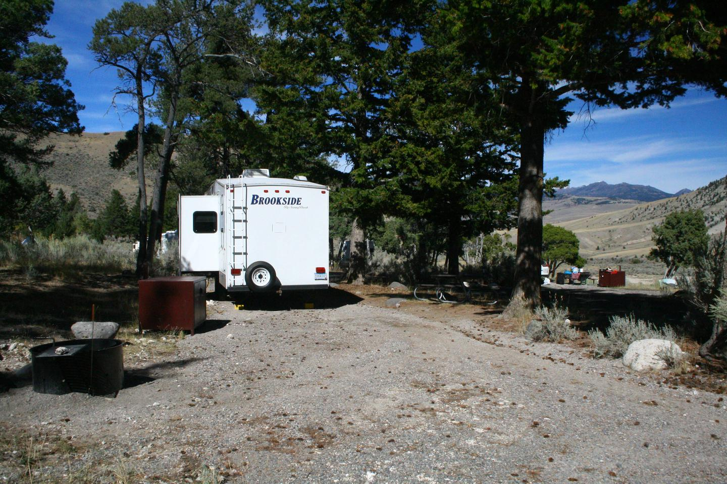 Mammoth Hot Springs Campground Site 30Mammoth Campsite #30