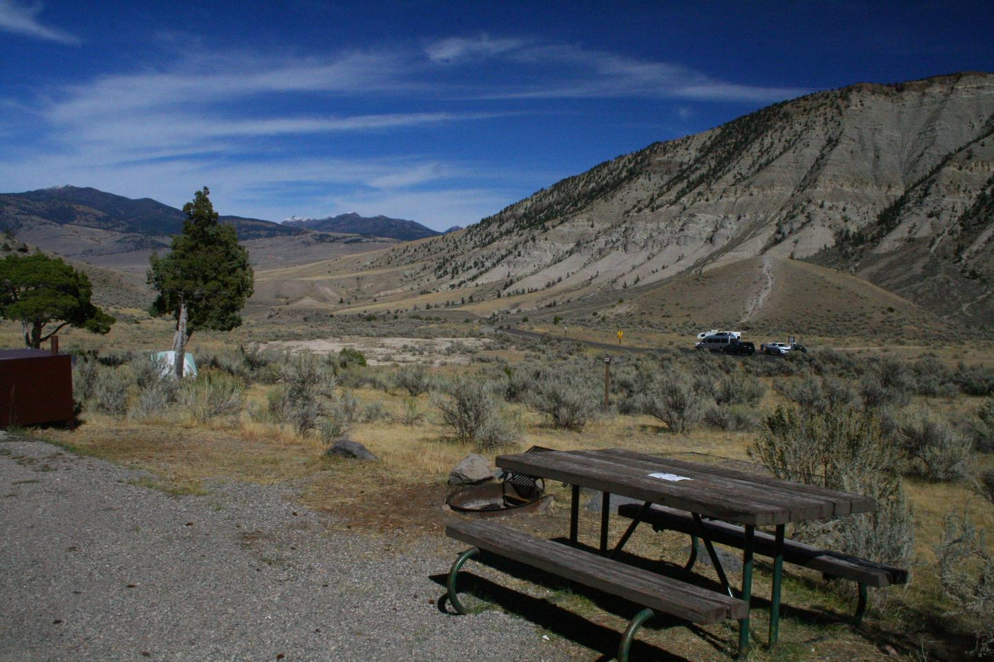 Mammoth Hot Springs Campground Site 31Mammoth Campsite #31