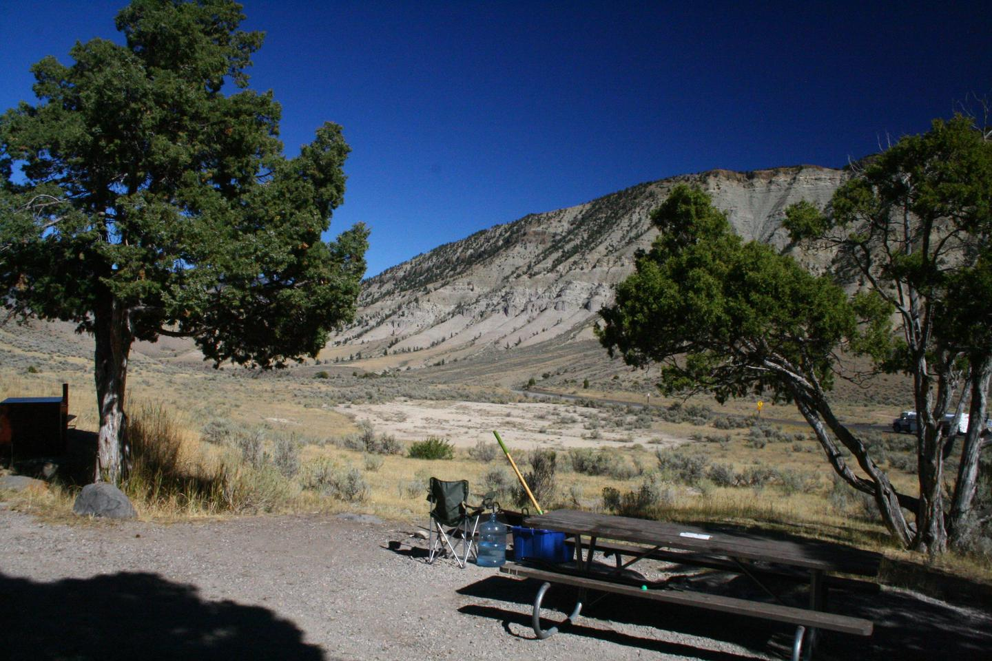 Mammoth Hot Springs Campground Site 34.Mammoth Campsite #34