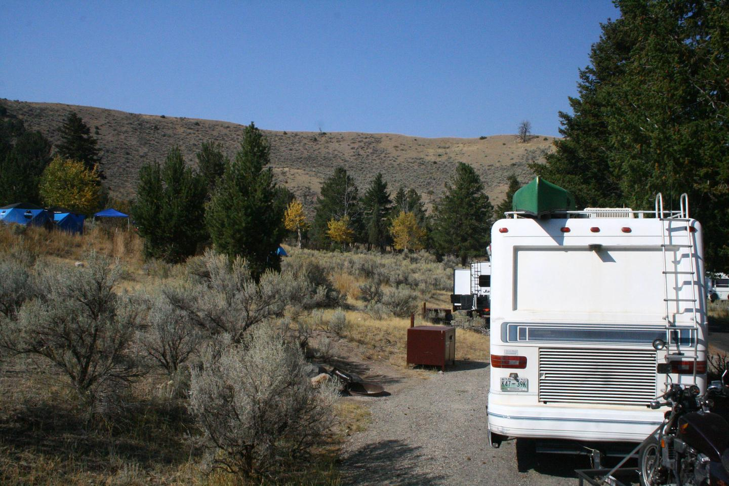 Mammoth Hot Springs Campground Site 38Mammoth Campsite #38