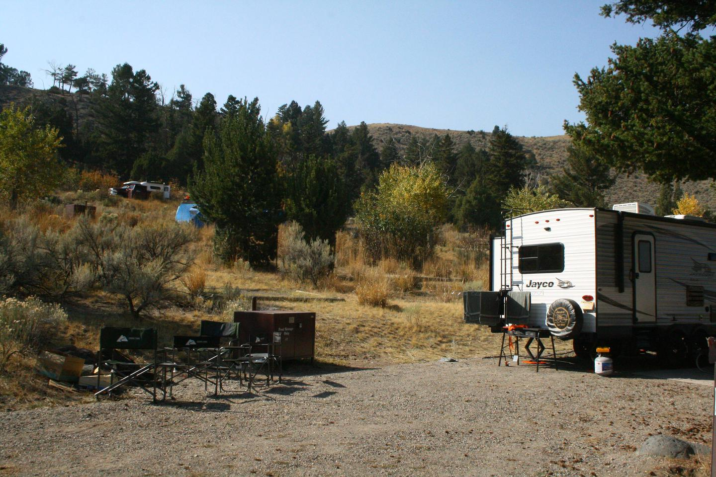 Mammoth Hot Springs Campground Site 40Mammoth Campsite #40