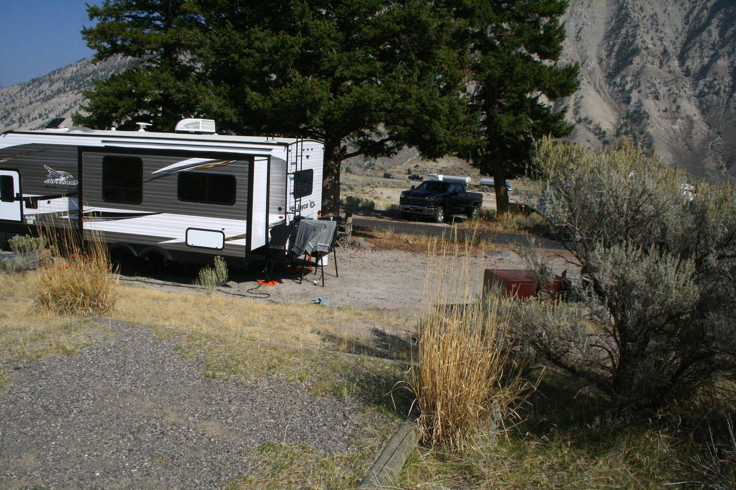 Mammoth Hot Springs Campground Site 40.Mammoth Campsite #40