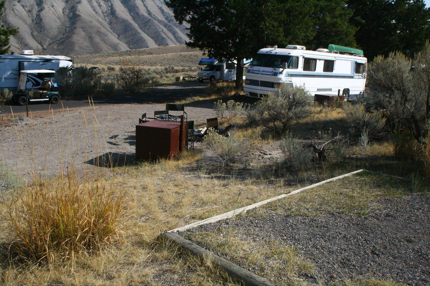 Mammoth Hot Springs Campground Site 40..Mammoth Campsite #40