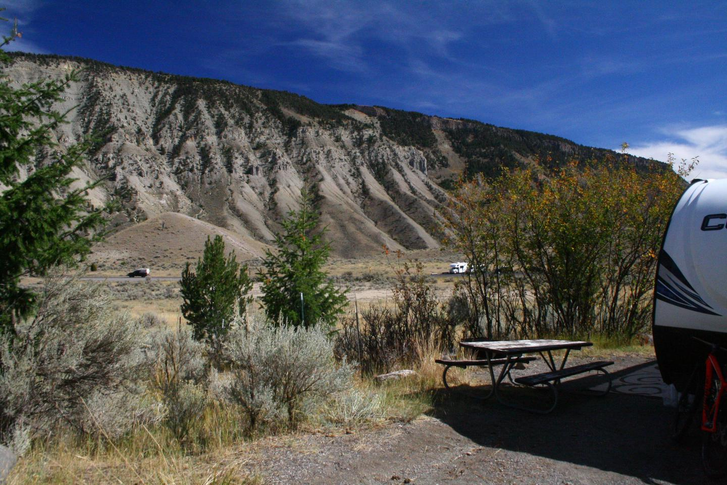Mammoth Hot Springs Campground Site 44.Mammoth Campsite #44
