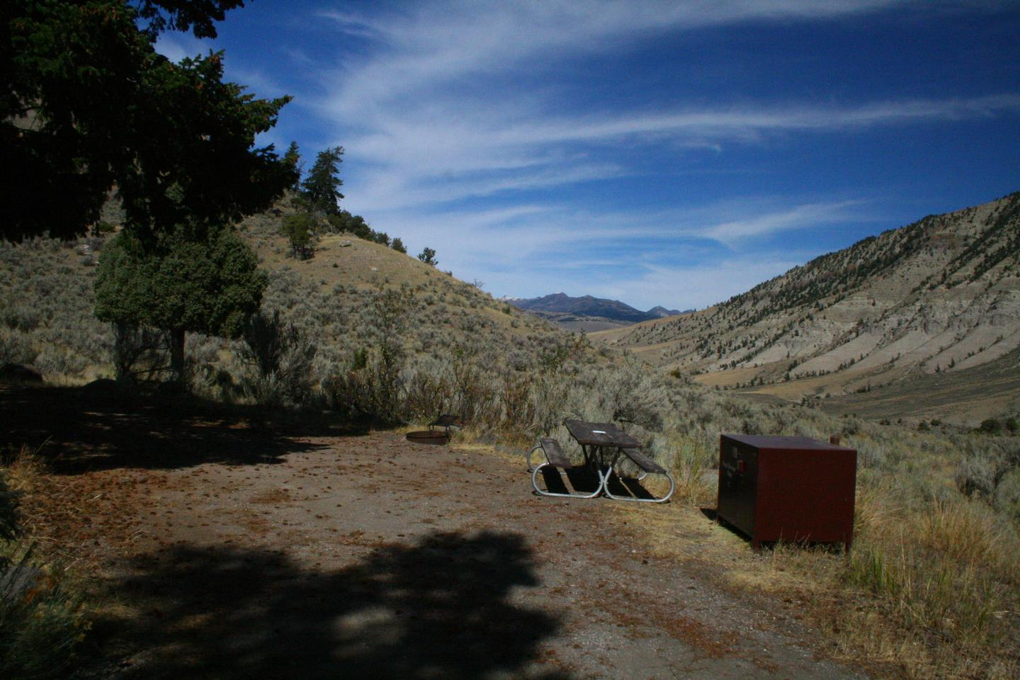 Mammoth Hot Springs Campground Site 45Mammoth Campsite #45