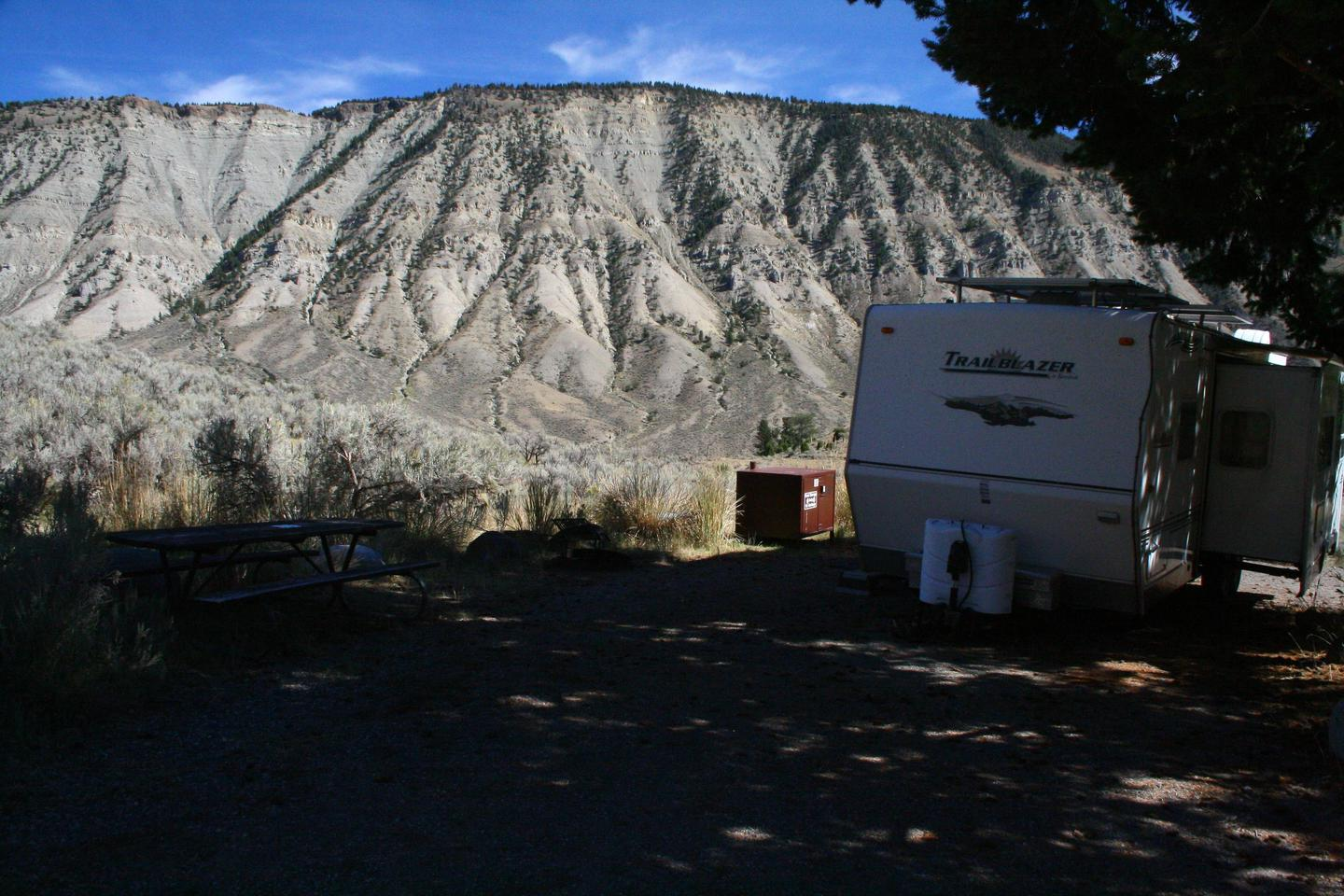 Mammoth Hot Springs Campground Site 46.Mammoth Campsite #46