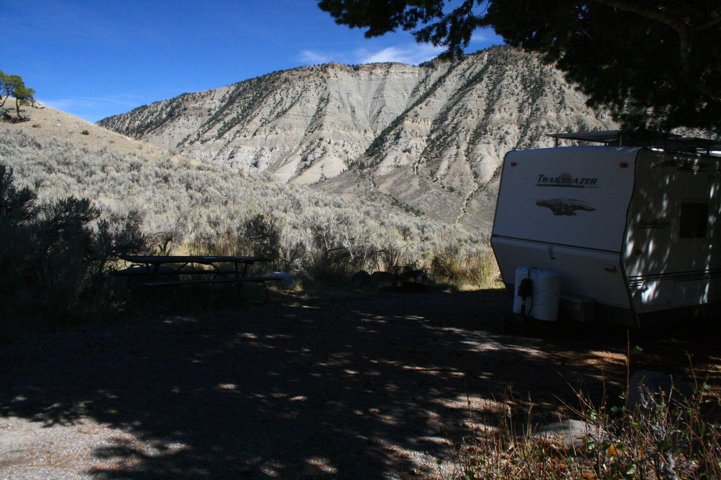 Mammoth Hot Springs Campground Site 46Mammoth Campsite #46