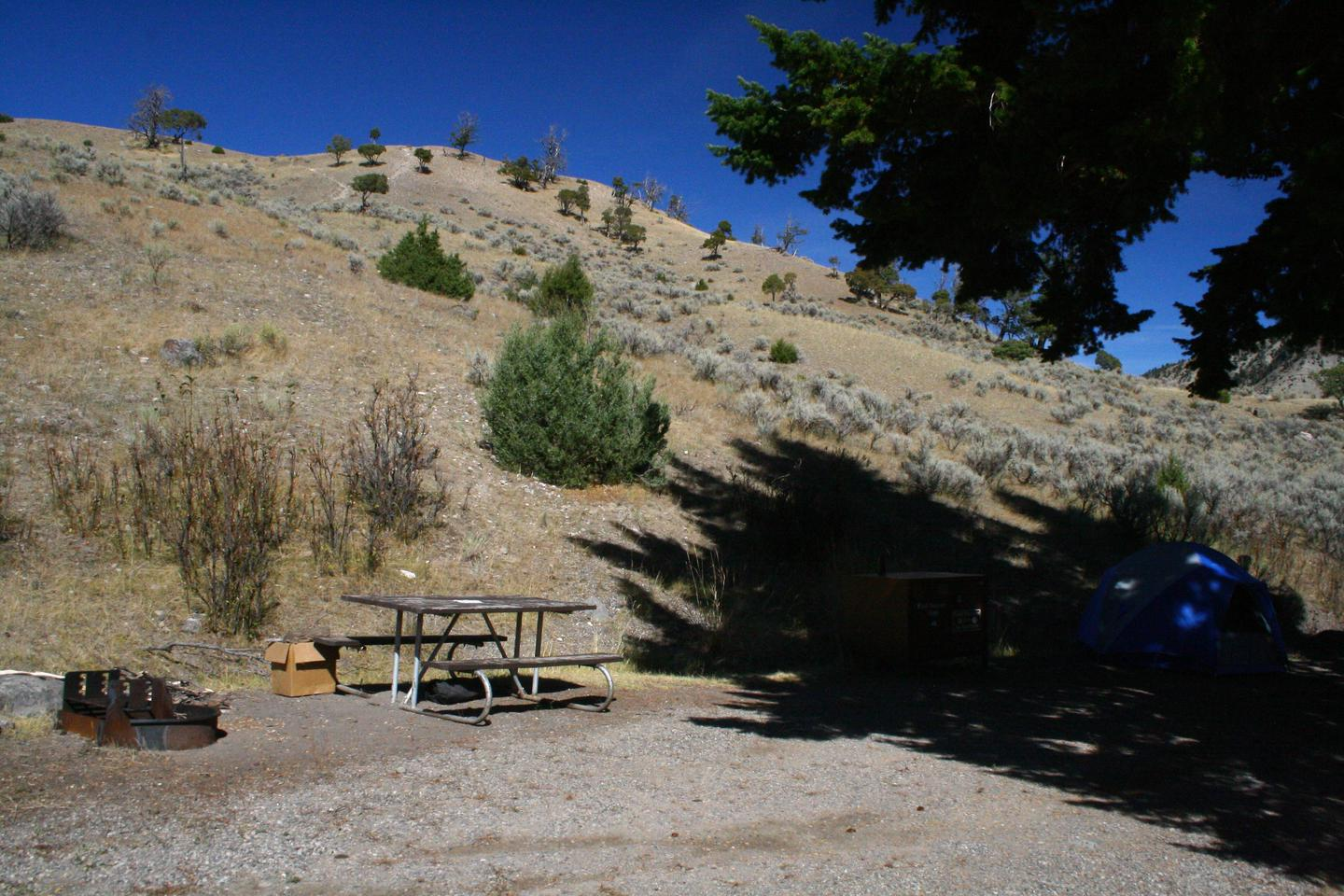 Mammoth Hot Springs Campground Site 48.Mammoth Campsite #48