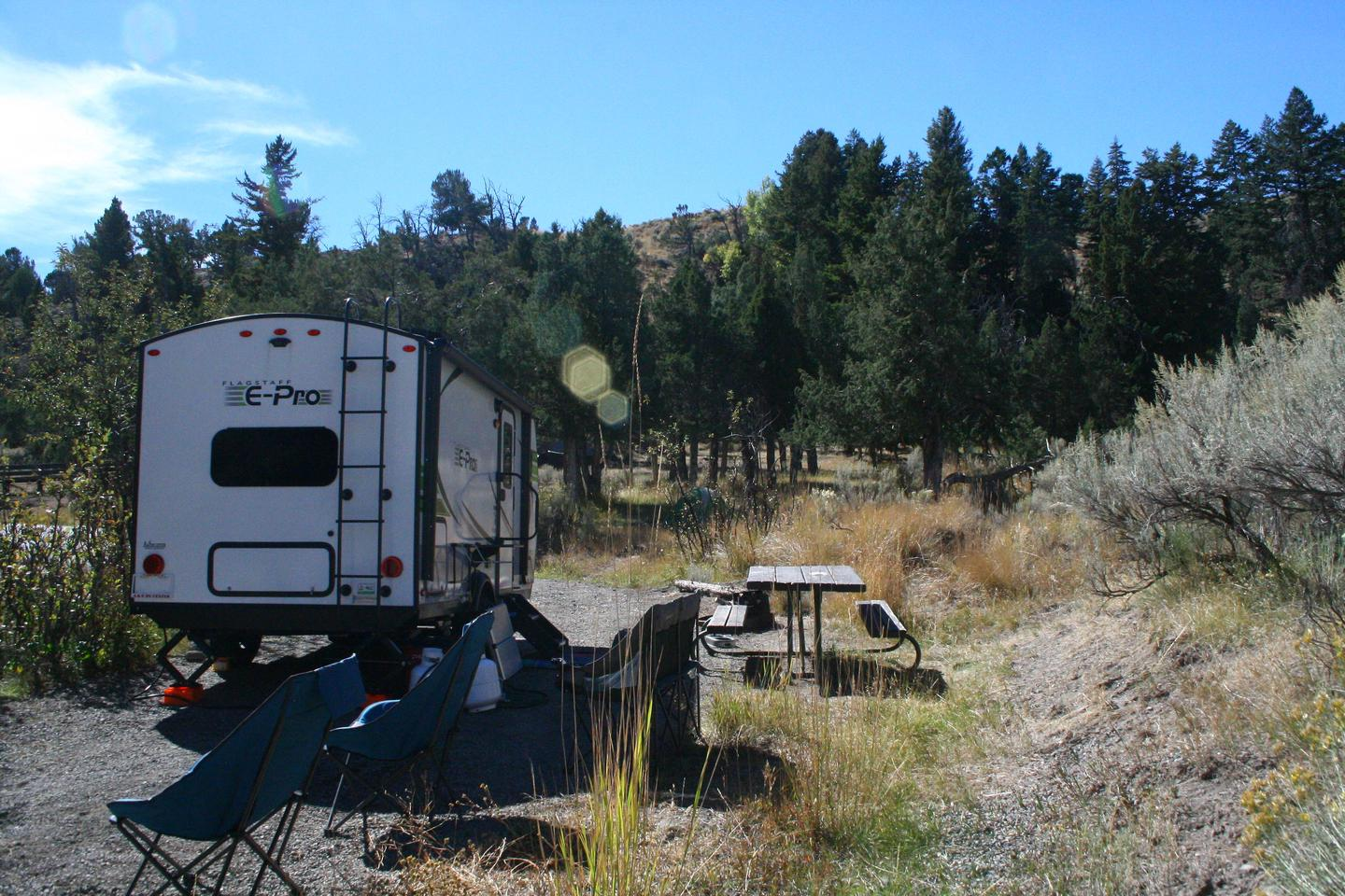 Mammoth Hot Springs Campground Site 49.Mammoth Campsite #49