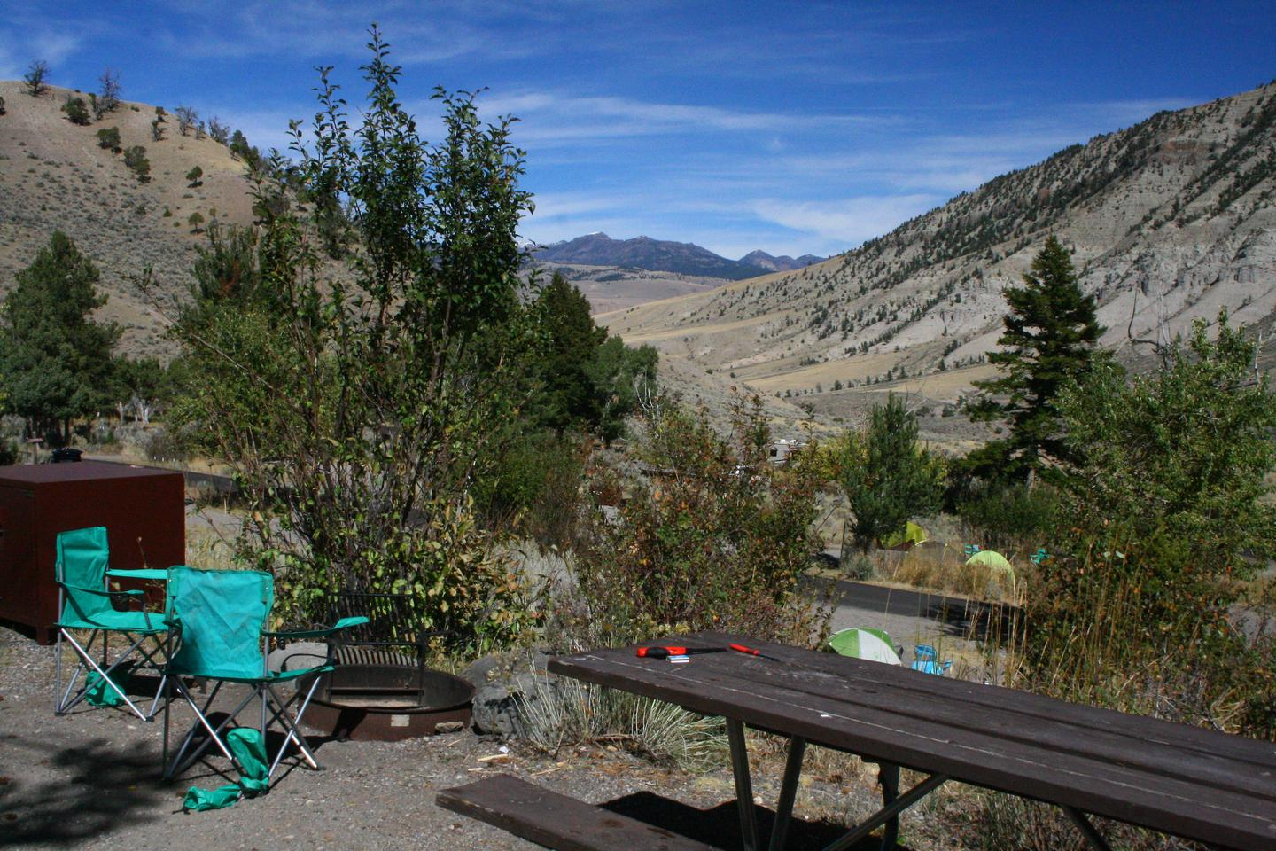 Mammoth Hot Springs Campground Site 52.Mammoth Campsite #52