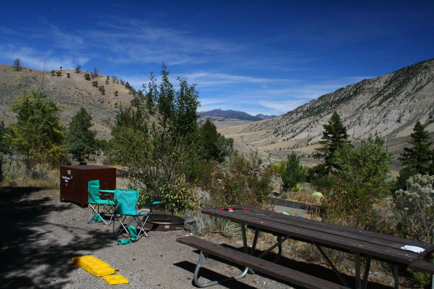 Mammoth Hot Springs Campground Site 52Mammoth Campsite #52