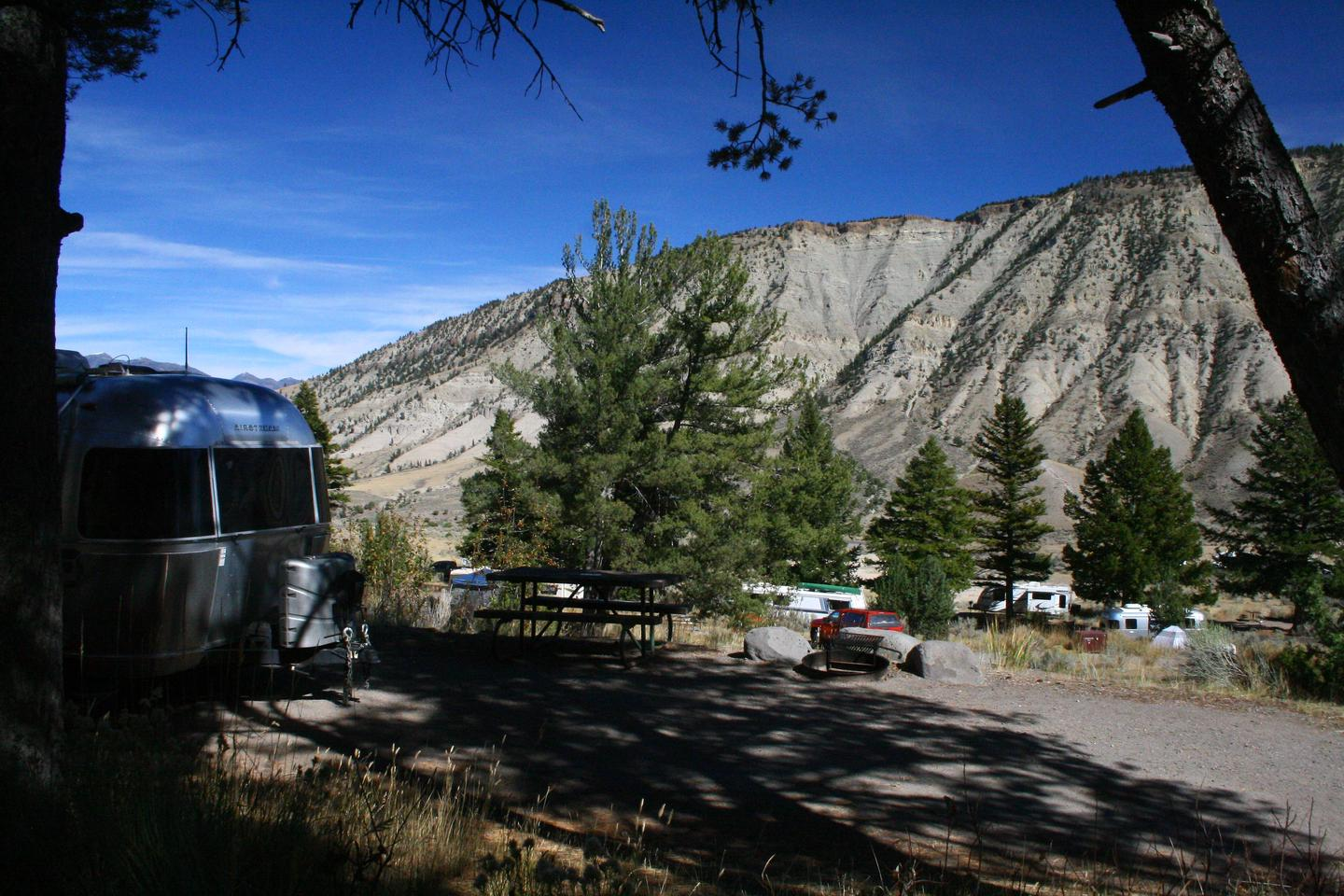 Mammoth Hot Springs Campground Site 53Mammoth Campsite #53