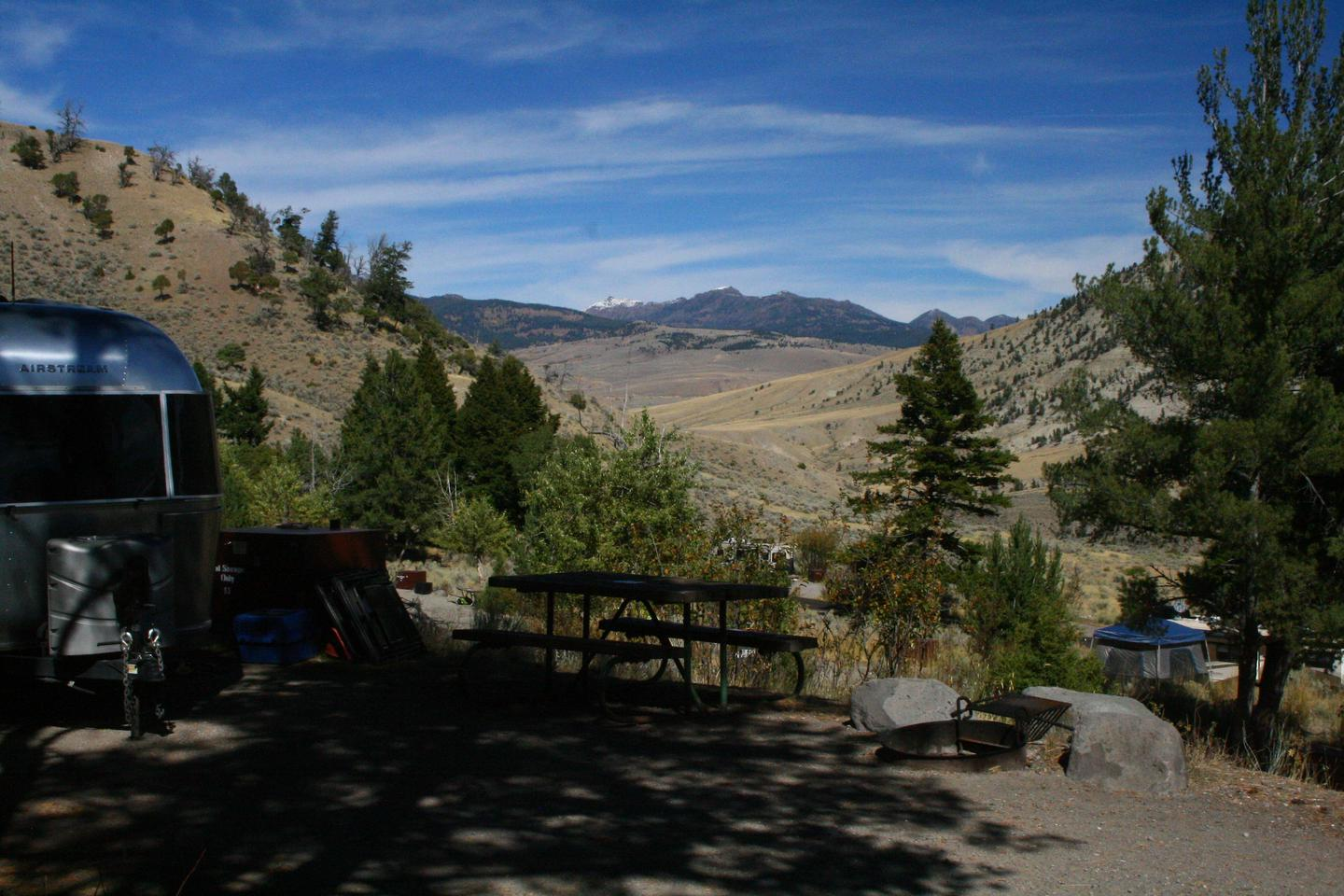 Mammoth Hot Springs Campground Site 53.Mammoth Campsite #53