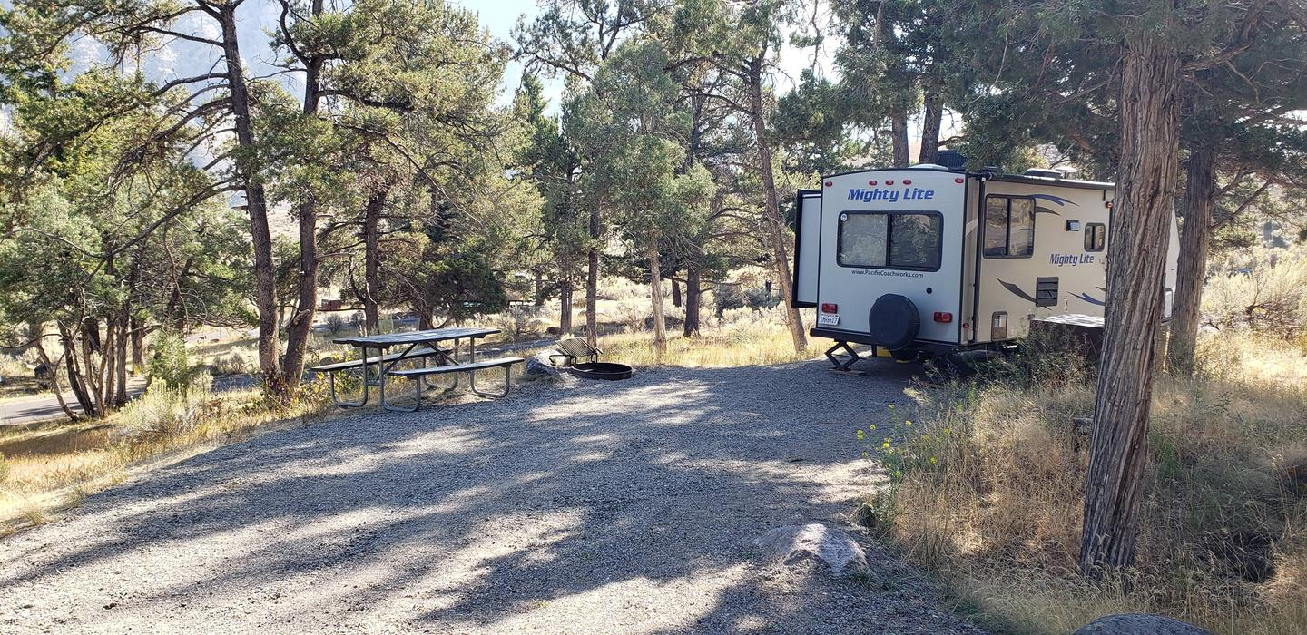 Mammoth Hot Springs Campground Site 54Mammoth Campsite #54