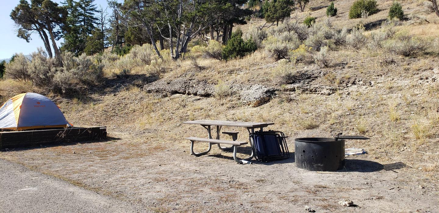 Mammoth Hot Springs Campground Accessible Site 55Mammoth Campsite #55