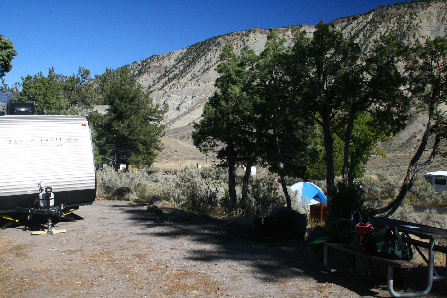 Mammoth Hot Springs Campground Site 57Mammoth Campsite #57