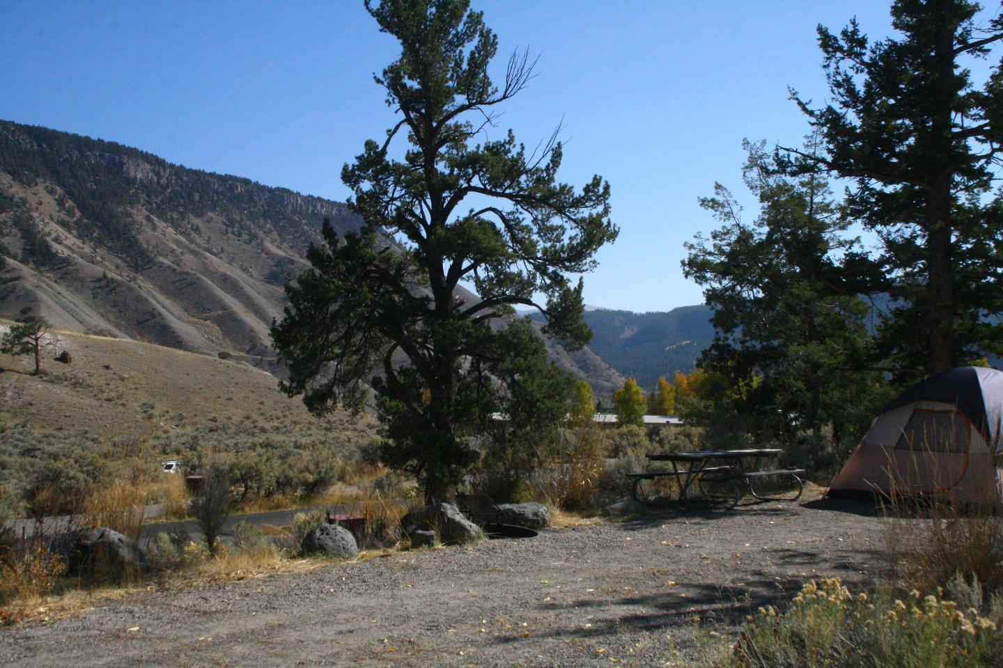Mammoth Hot Springs Campground Site 58Mammoth Campsite #58