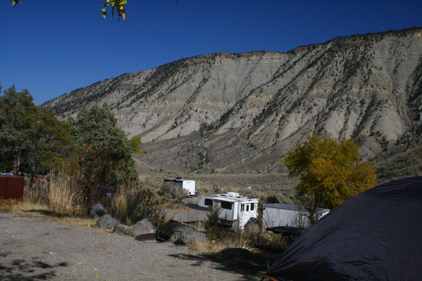 Mammoth Hot Springs Campground Site 58.Mammoth Campsite #58