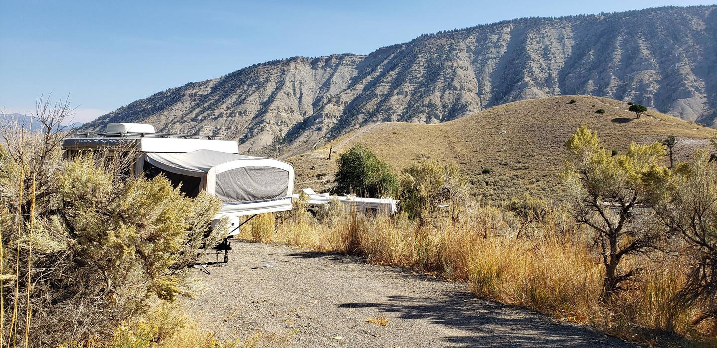 Mammoth Hot Springs Campground Site 59.Mammoth Campsite #59