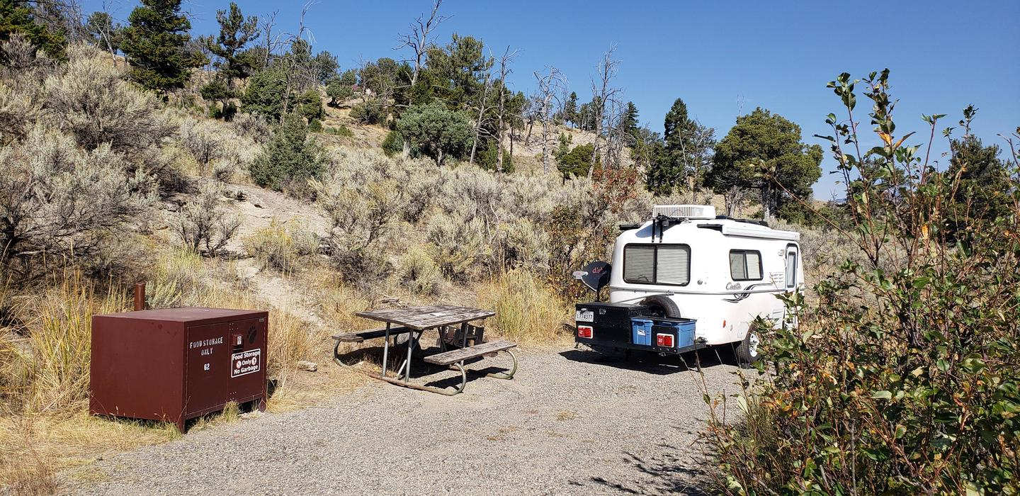 Mammoth Hot Springs Campground Site 62Mammoth Campsite #62