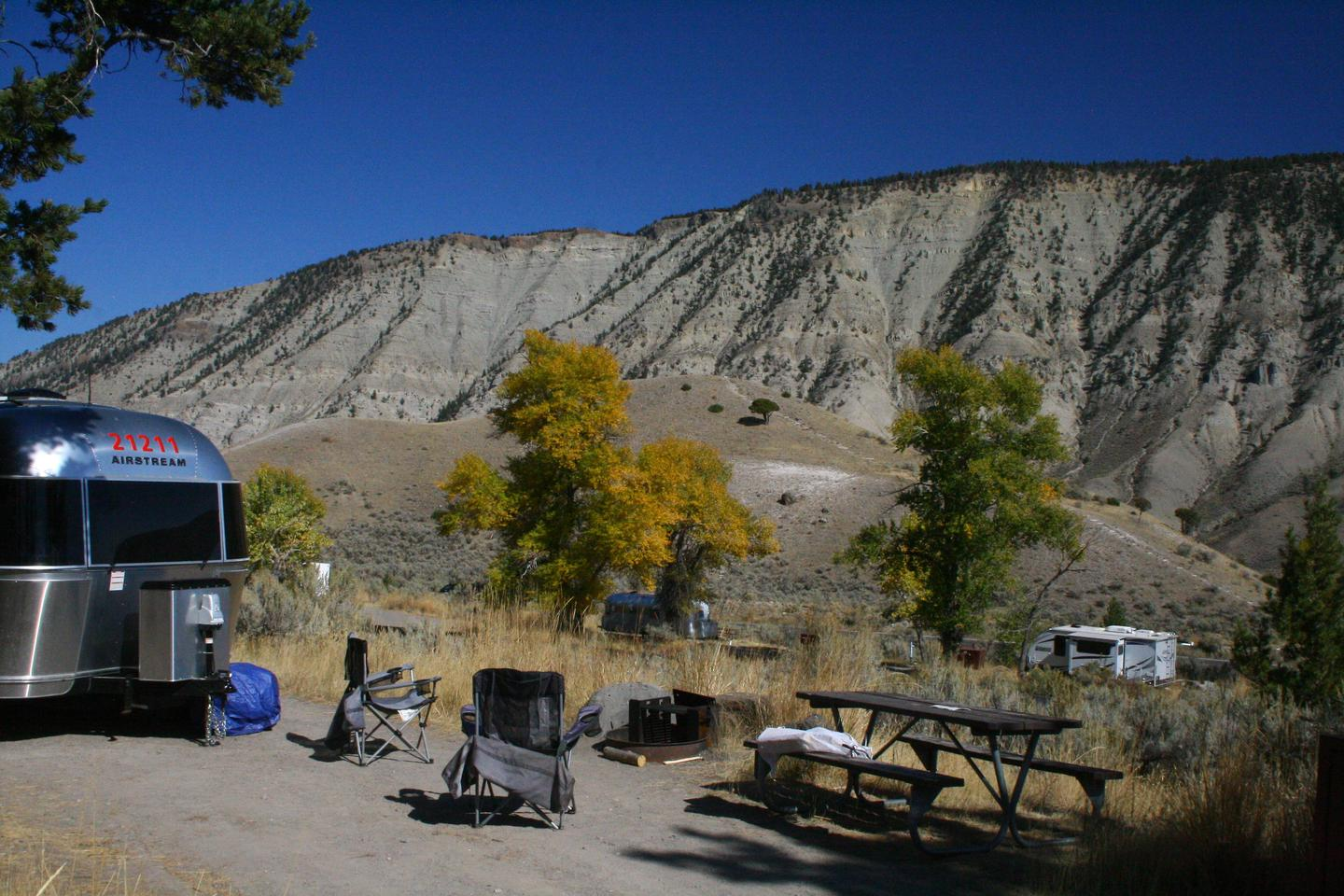 Mammoth Hot Springs Campground Site 63Mammoth Campsite #63