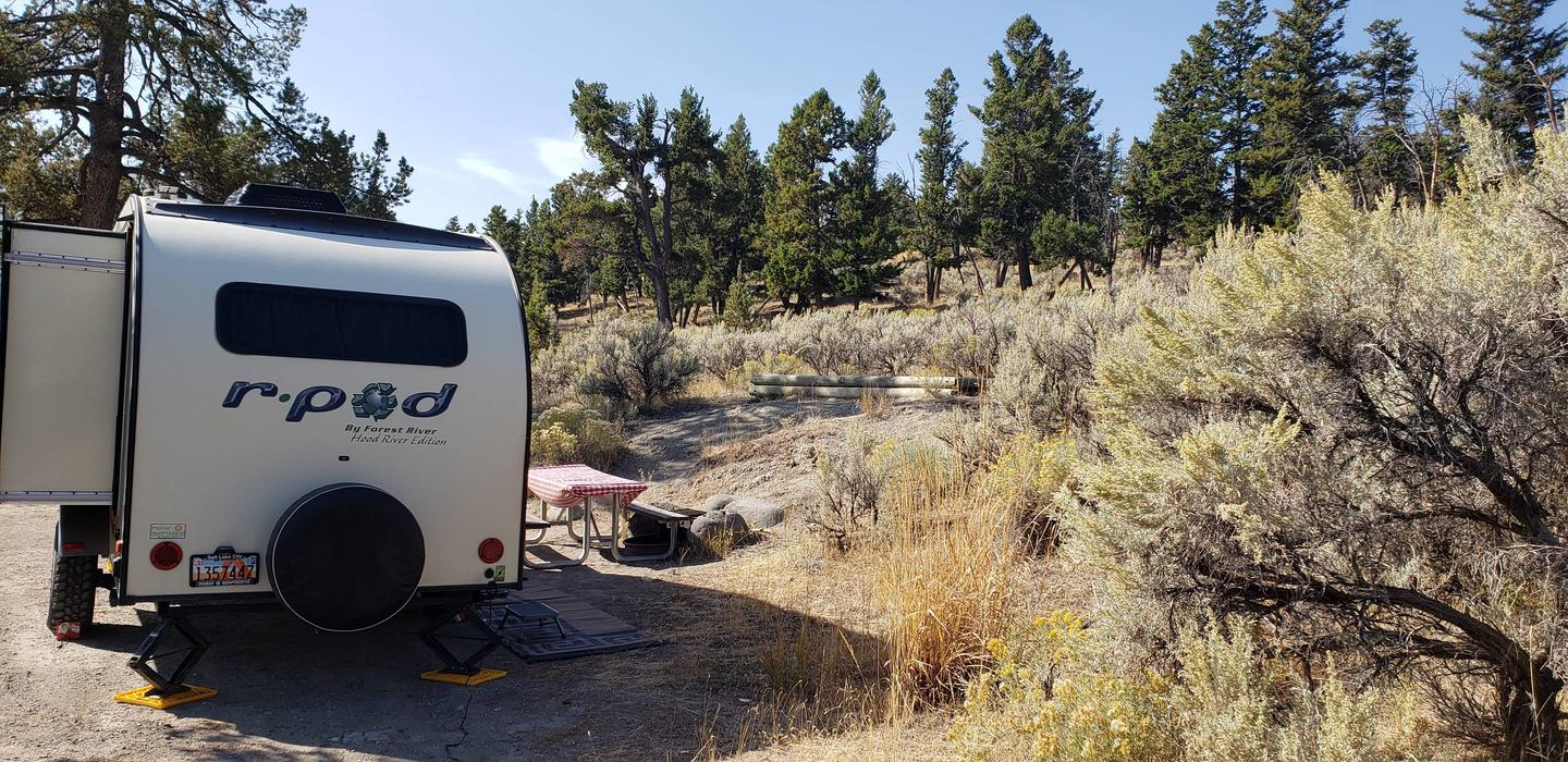 Mammoth Hot Springs Campground Site 64.Mammoth Campsite #64