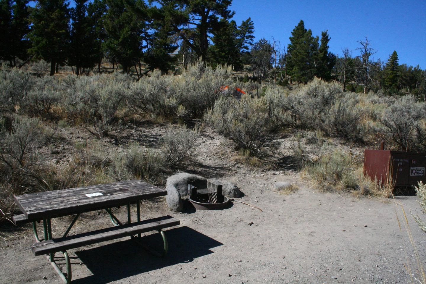 Mammoth Hot Springs Campground Site 68..Mammoth Campsite #68
