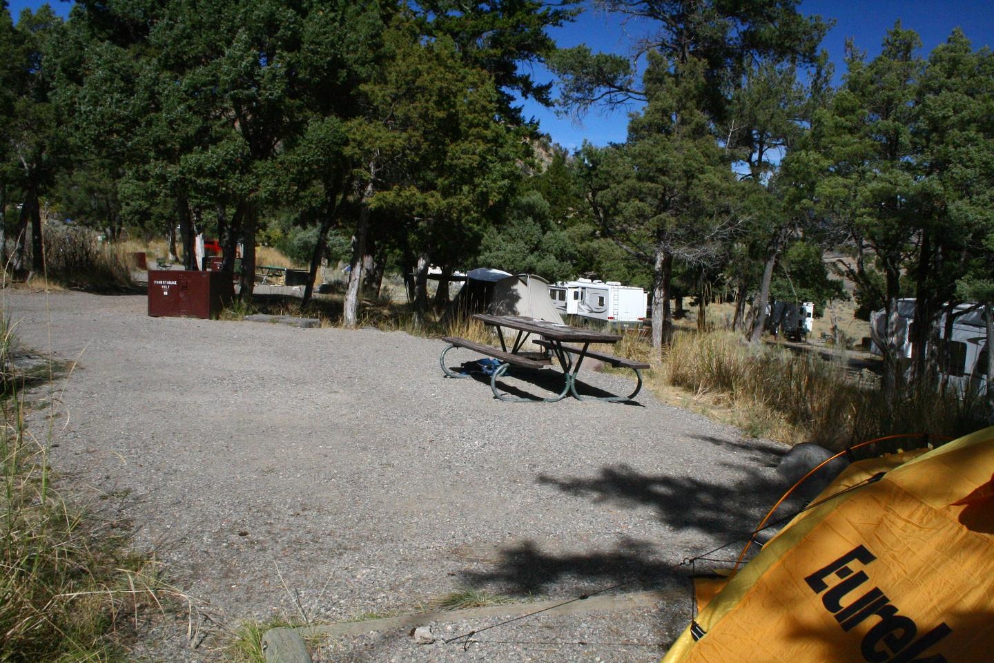 Mammoth Hot Springs Campground Site 69.Mammoth Campsite #69
