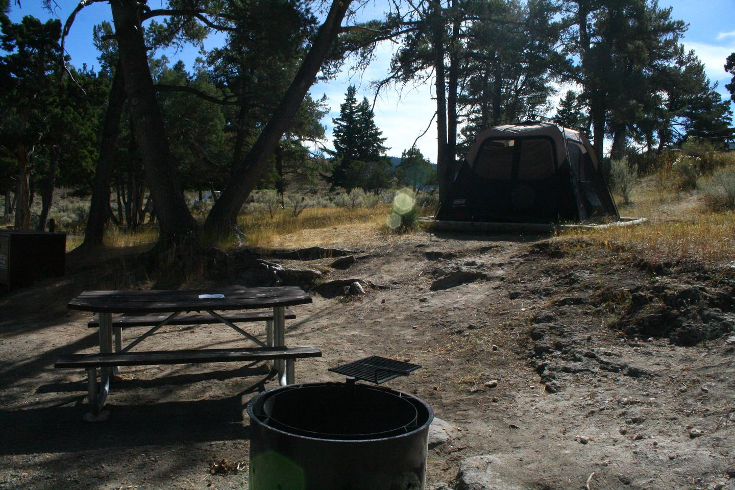 Mammoth Hot Springs Campground Site 70.Mammoth Campsite #70