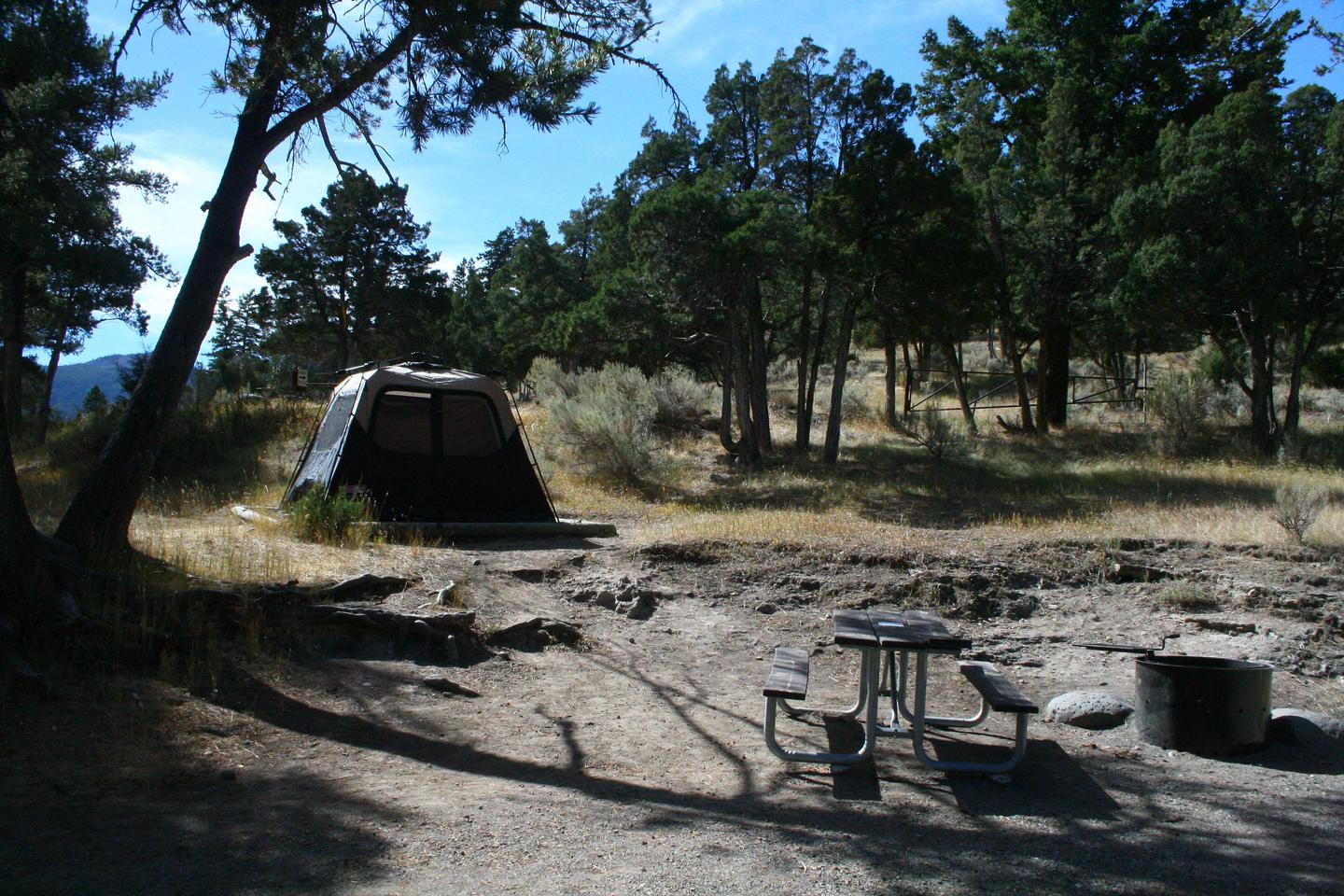 Mammoth Hot Springs Campground Site 70..Mammoth Campsite #70