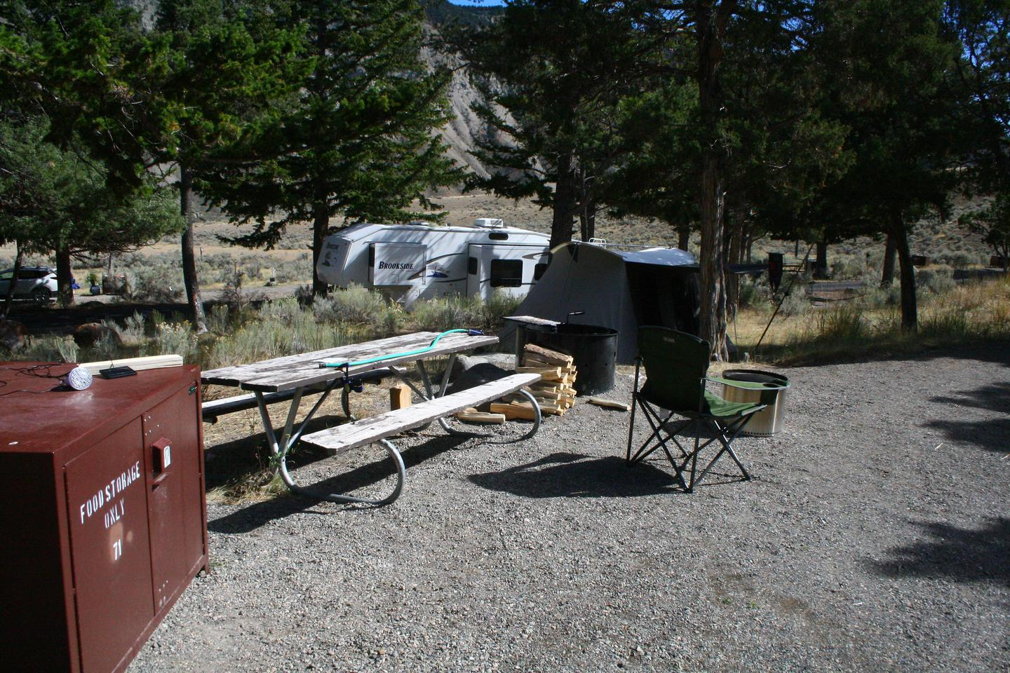 Mammoth Hot Springs Campground Site 71.Mammoth Campsite #71