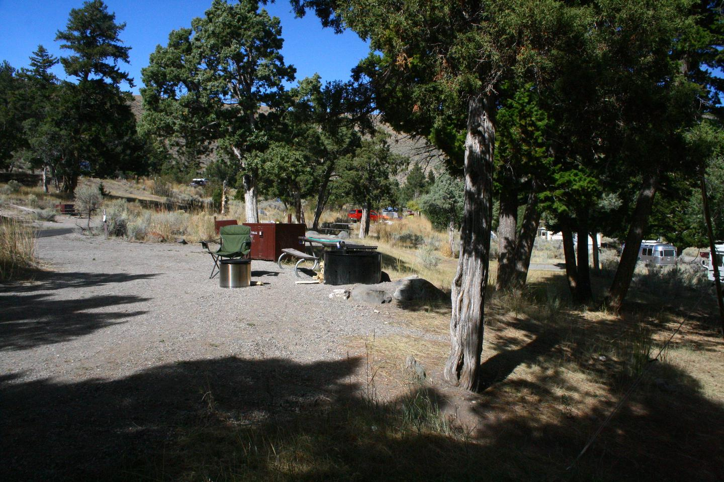 Mammoth Hot Springs Campground Site 71Mammoth Campsite #71
