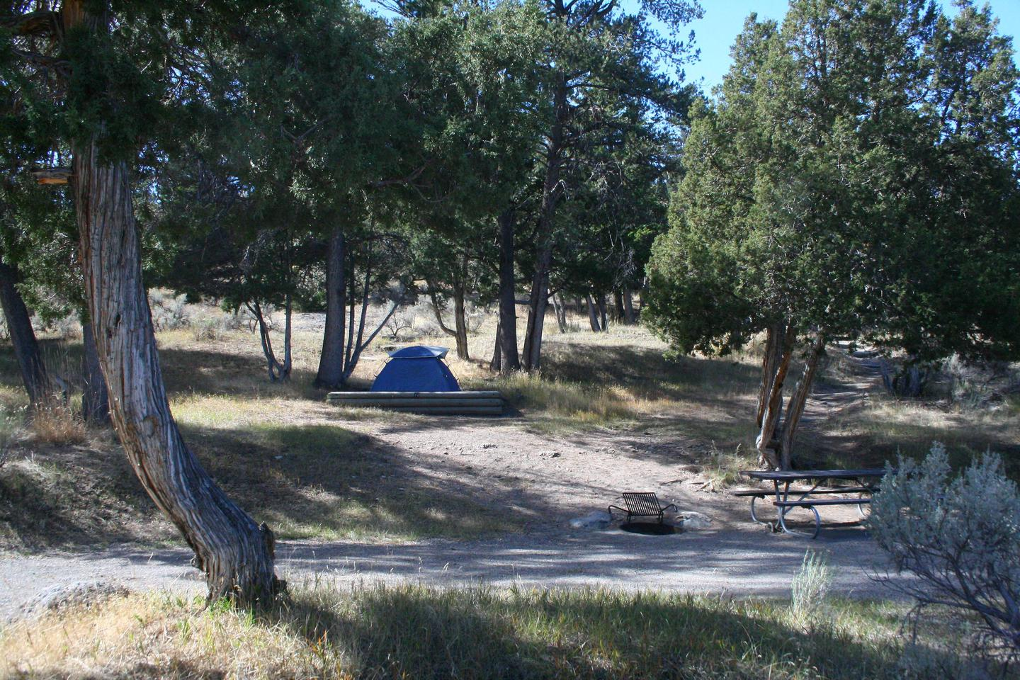Mammoth Hot Springs Campground Site 72..Mammoth Campsite #72