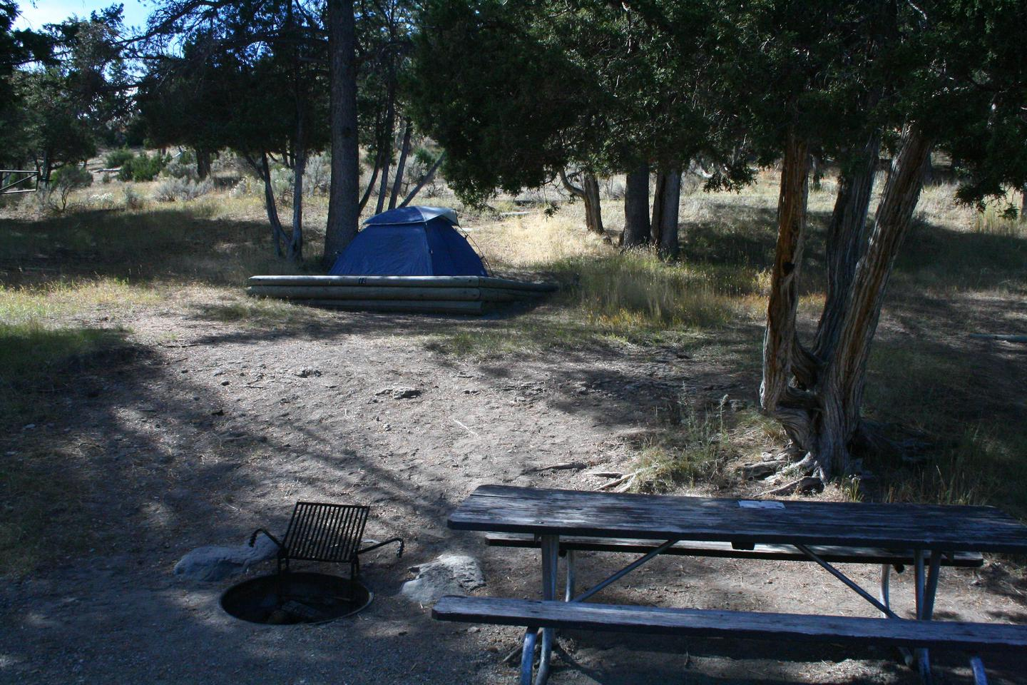 Mammoth Hot Springs Campground Site 72.Mammoth Campsite #72
