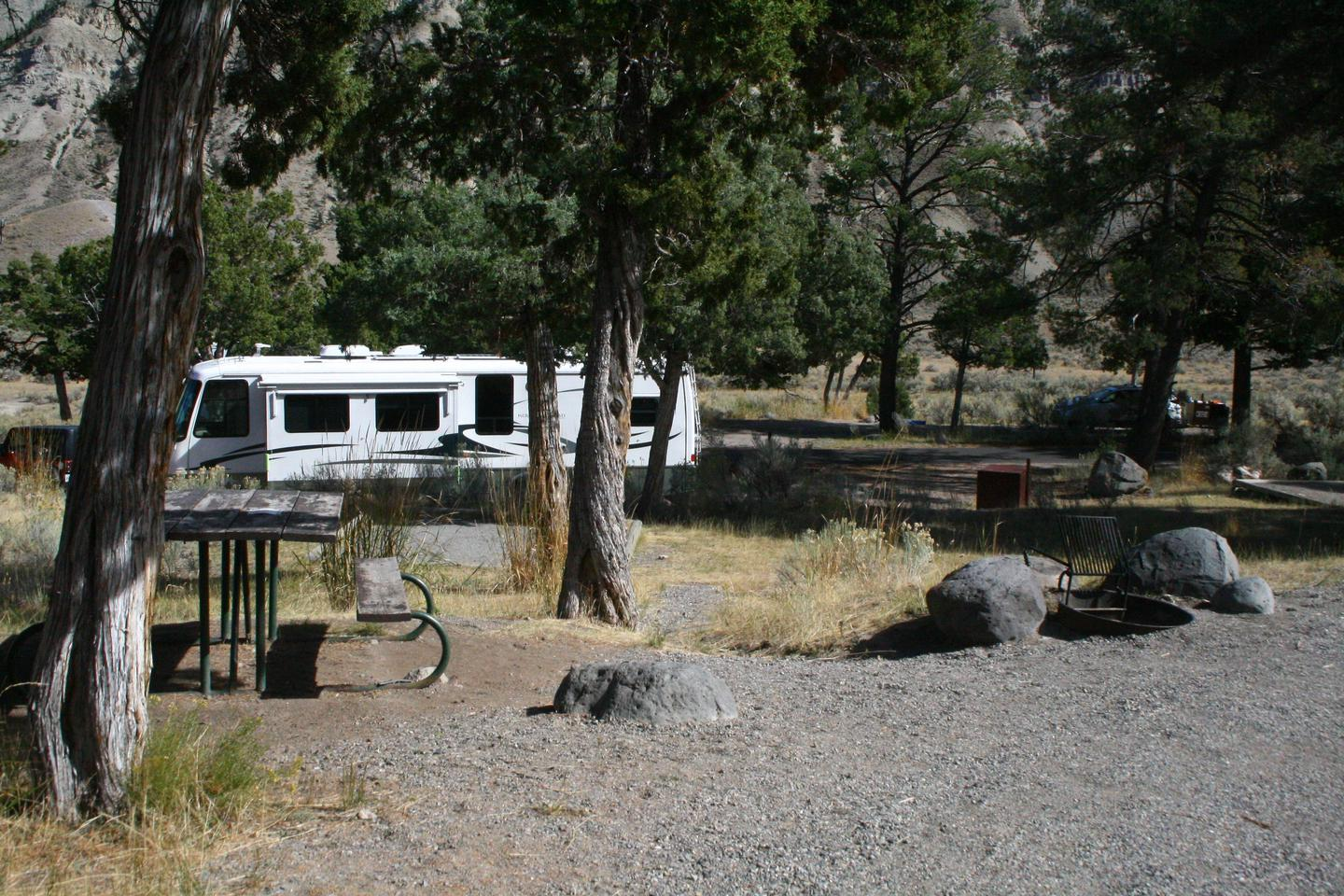 Mammoth Hot Springs Campground Site 73Mammoth Campsite #73