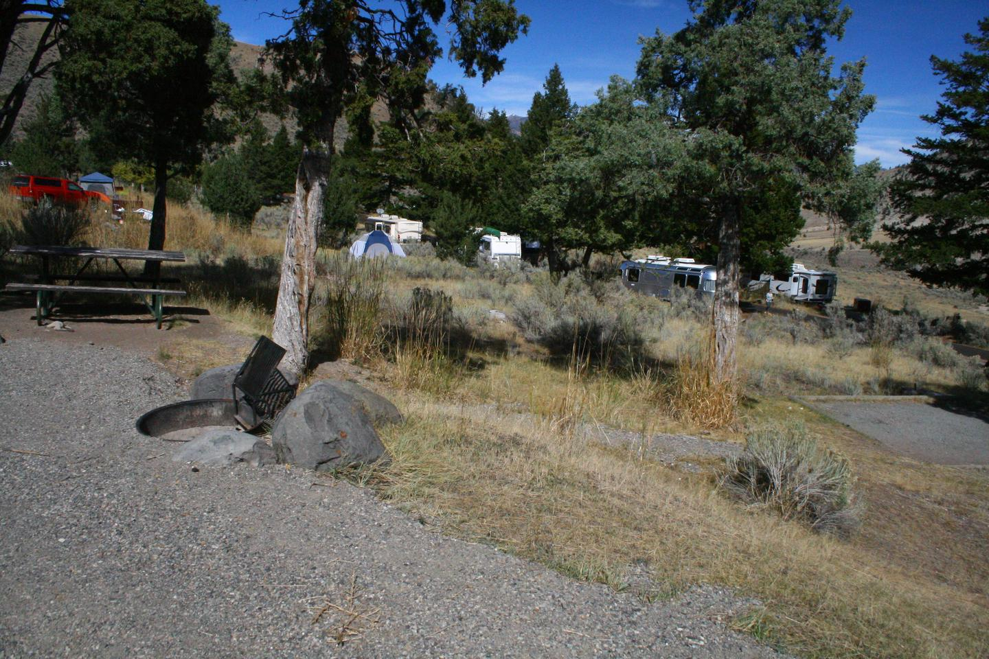 Mammoth Hot Springs Campground Site 73.Mammoth Campsite #73