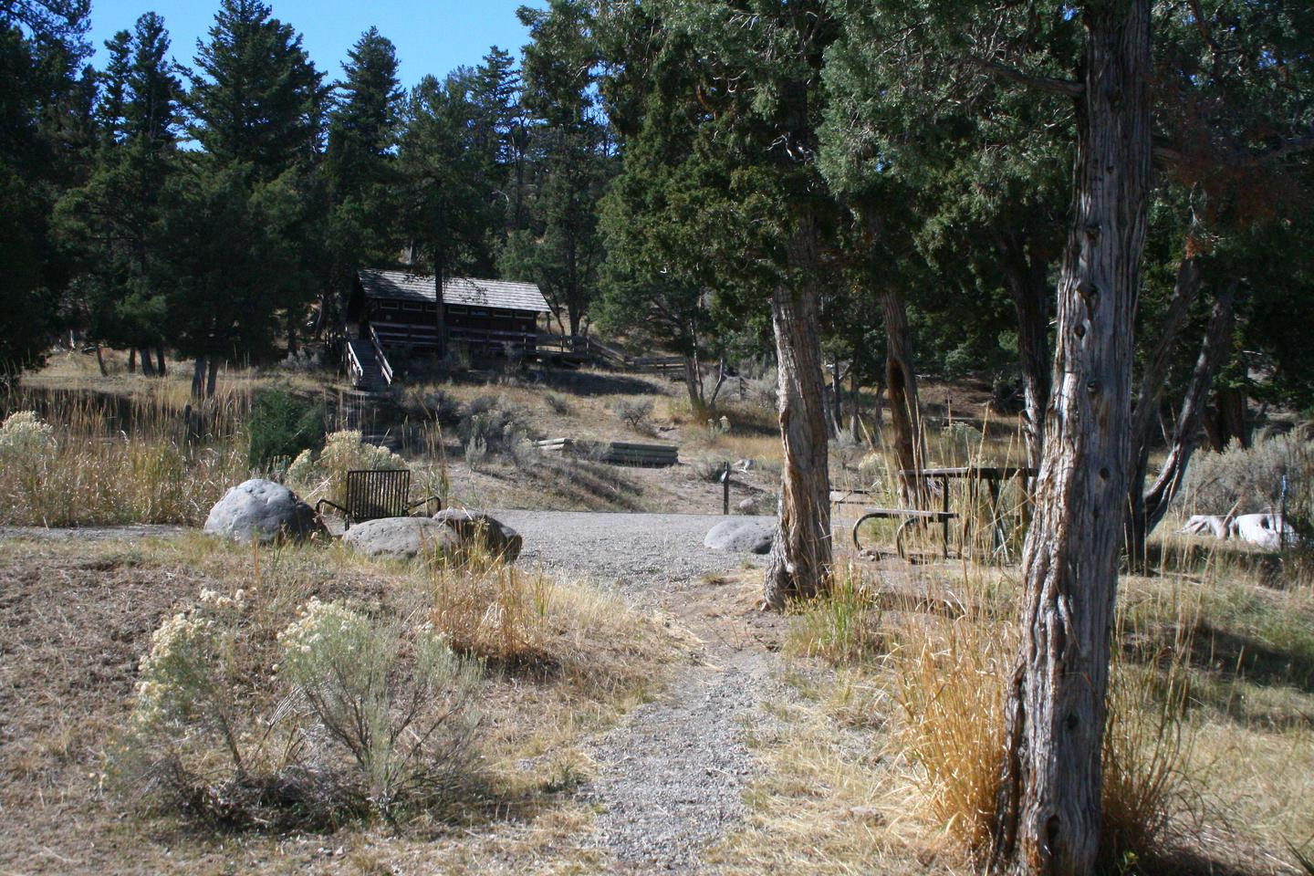 Mammoth Hot Springs Campground Site 73...Mammoth Campsite #73