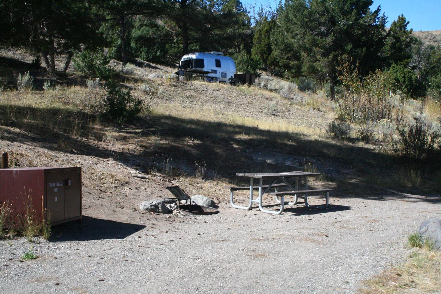 Mammoth Hot Springs Campground Site 76Mammoth Campsite #76