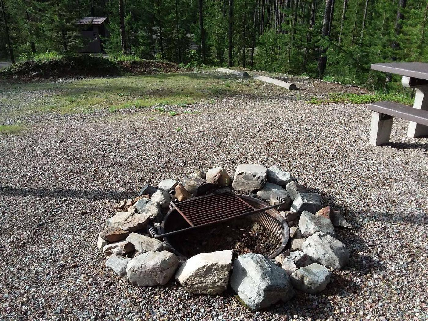 McGregor Lake Site 6-fire ring