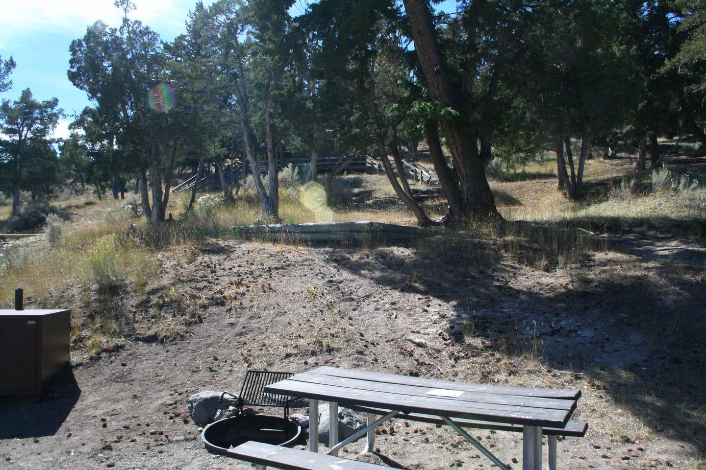 Mammoth Hot Springs Campground Site 76..Mammoth Campsite #76