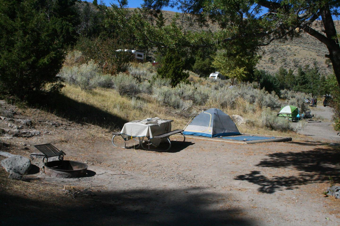 Mammoth Hot Springs Campground Site 78.Mammoth Campsite #78