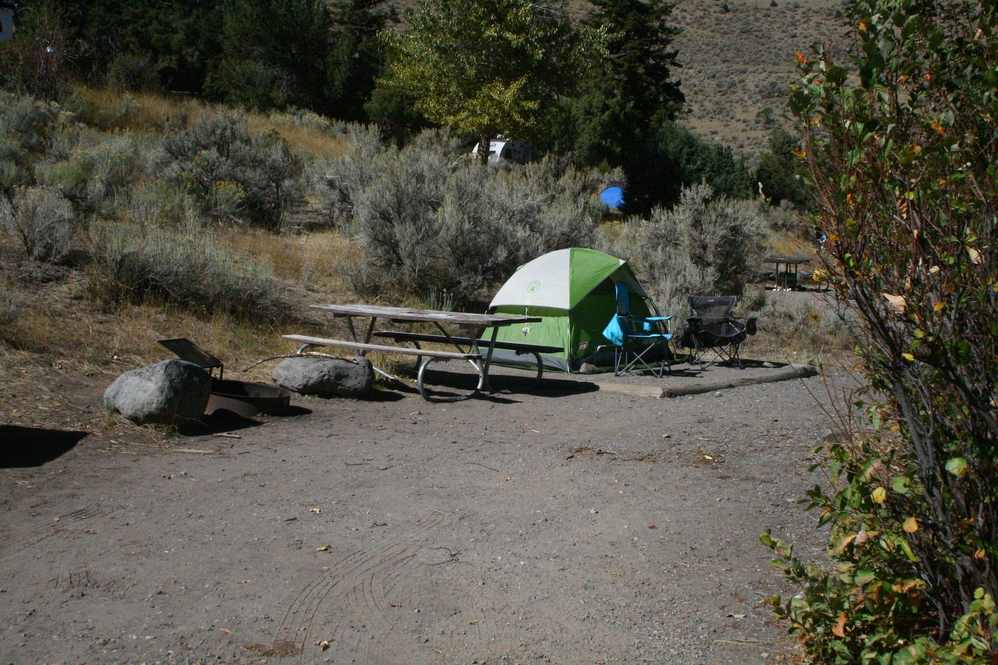 Mammoth Hot Springs Campground Site 80Mammoth Campsite #80
