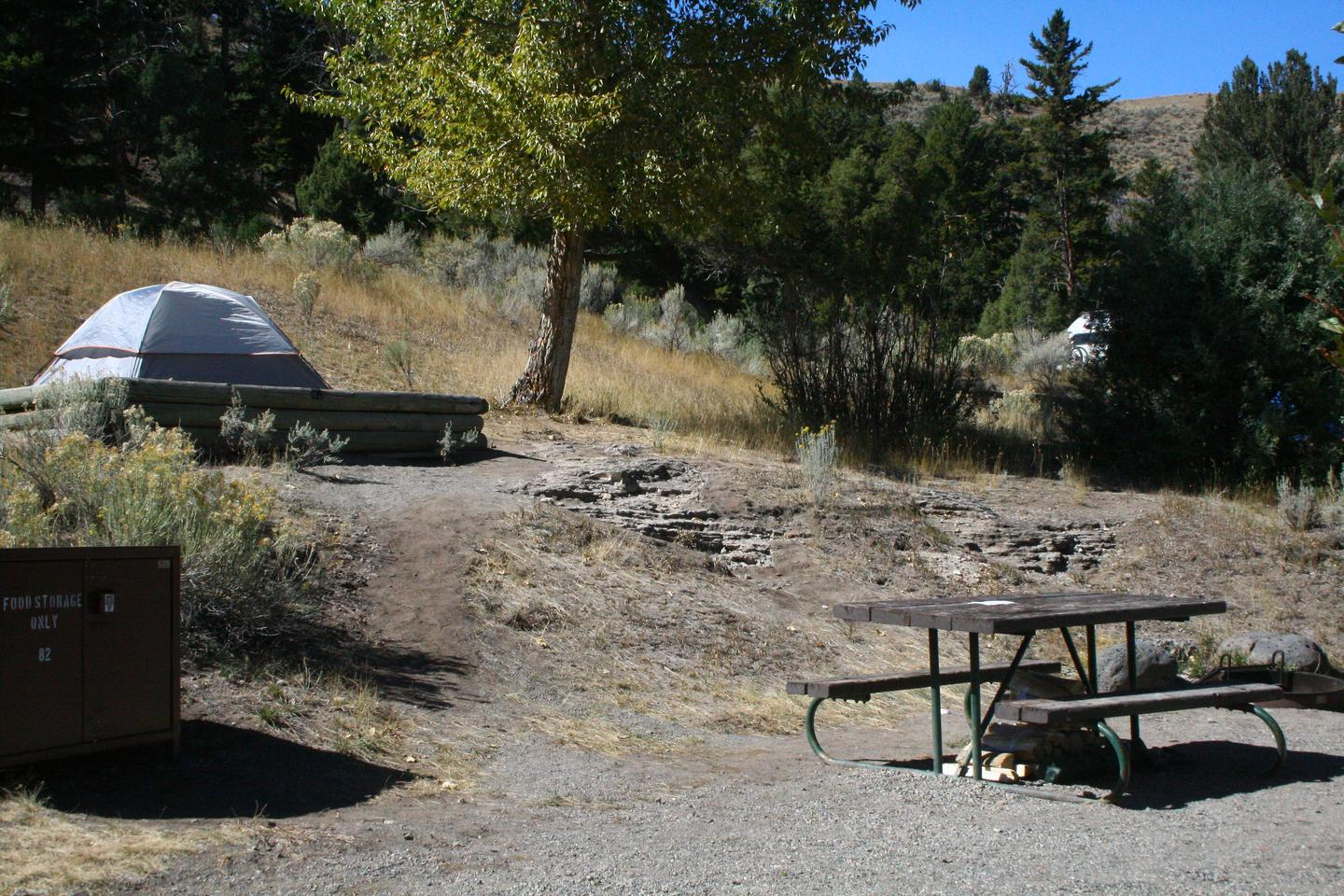 Mammoth Hot Springs Campground Site 82Mammoth Campsite #82