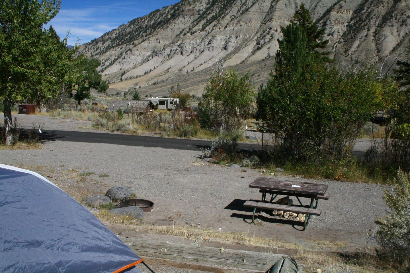 Mammoth Hot Springs Campground Site 82..Mammothy Campsite #82