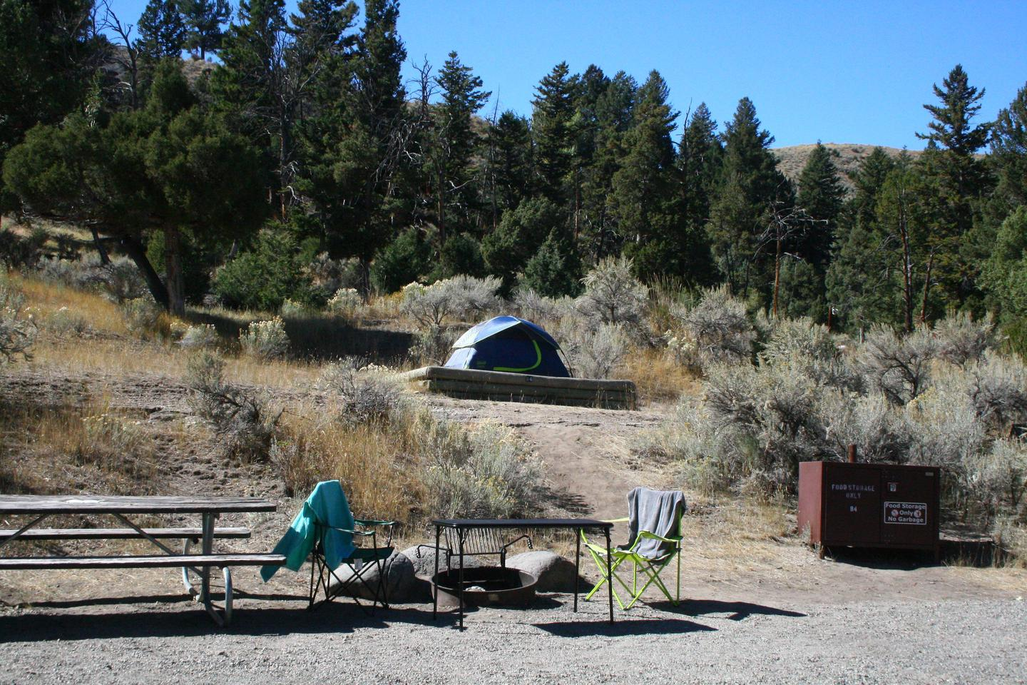 Mammoth Hot Springs Campground Site 84Mammoth Campsite #84